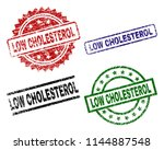 low cholesterol seal prints... | Shutterstock .eps vector #1144887548