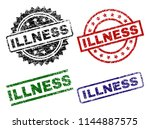 illness seal prints with... | Shutterstock .eps vector #1144887575