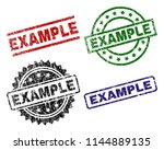 example seal imprints with...   Shutterstock .eps vector #1144889135