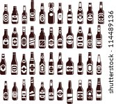 beer bottles vector collection. ... | Shutterstock .eps vector #114489136