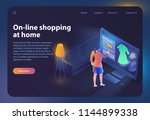 online shopping at home.... | Shutterstock .eps vector #1144899338