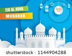 eid al adha mubarak celebration ... | Shutterstock .eps vector #1144904288