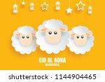 eid al adha mubarak celebration ... | Shutterstock .eps vector #1144904465