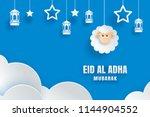eid al adha mubarak celebration ... | Shutterstock .eps vector #1144904552