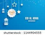 eid al adha mubarak celebration ... | Shutterstock .eps vector #1144904555