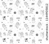 doodle pattern indonesia...   Shutterstock .eps vector #1144905812