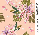seamless pattern lilly wild... | Shutterstock .eps vector #1144905935