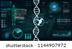 hud  dna infographic interface. ...