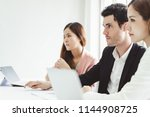 business people concentrate... | Shutterstock . vector #1144908725