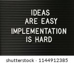 quote on ideas and... | Shutterstock . vector #1144912385