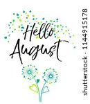 hello august vector... | Shutterstock .eps vector #1144915178