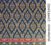 thai style art pattern... | Shutterstock . vector #1144916432