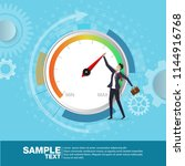 businessman pulling speed... | Shutterstock .eps vector #1144916768