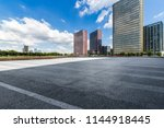 empty road with modern business ... | Shutterstock . vector #1144918445