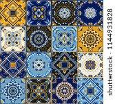 talavera pattern.  indian... | Shutterstock .eps vector #1144931828
