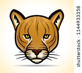 vector illustration of cougar... | Shutterstock .eps vector #1144933358