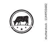 illustration of cow logo design ... | Shutterstock .eps vector #1144933682