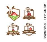illustration of barn logo... | Shutterstock .eps vector #1144933685
