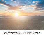 asphalt road and beautiful sky... | Shutterstock . vector #1144936985