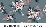 seamless floral pattern with... | Shutterstock .eps vector #1144937438