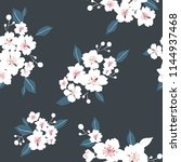 seamless floral pattern with... | Shutterstock .eps vector #1144937468