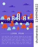 beautiful cozy town  row of... | Shutterstock .eps vector #1144943822