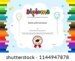 kids diploma or certificate... | Shutterstock .eps vector #1144947878