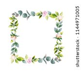 watercolor hand painting frame... | Shutterstock . vector #1144971005