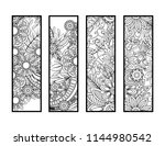 set of four bookmarks in black... | Shutterstock . vector #1144980542
