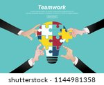 business meeting and... | Shutterstock .eps vector #1144981358