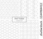 set of four abstract geometric... | Shutterstock .eps vector #1144984412