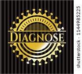 diagnose golden emblem | Shutterstock .eps vector #1144985225