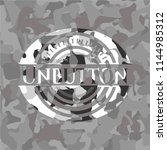 unbutton on grey camouflage... | Shutterstock .eps vector #1144985312