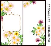 invitation greeting card with... | Shutterstock . vector #1144993322