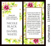 invitation greeting card with... | Shutterstock . vector #1144993328
