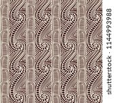 maori tribal pattern vector... | Shutterstock .eps vector #1144993988