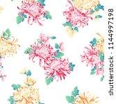 japanese style chrysanthemum... | Shutterstock .eps vector #1144997198