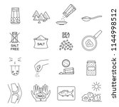 salt signs black thin line icon ...   Shutterstock .eps vector #1144998512