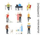 cartoon characters modern aged... | Shutterstock .eps vector #1144998542