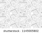 vector stationery pattern....   Shutterstock .eps vector #1145005802