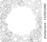vector frame with drawing daisy ...   Shutterstock .eps vector #1145011082