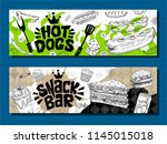 fast food colorful modern... | Shutterstock .eps vector #1145015018