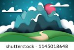 cartoon paper landscape.... | Shutterstock .eps vector #1145018648