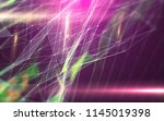 abstract polygonal space on... | Shutterstock . vector #1145019398