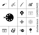 shot icon. collection of 13... | Shutterstock .eps vector #1145019455