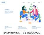 concept the investor holds... | Shutterstock .eps vector #1145020922