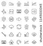thin line vector icon set  ... | Shutterstock .eps vector #1145033345