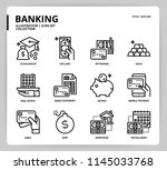 banking icon set | Shutterstock .eps vector #1145033768