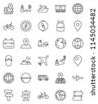 thin line vector icon set  ... | Shutterstock .eps vector #1145034482