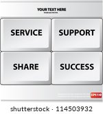 keyboard service  support share ... | Shutterstock .eps vector #114503932